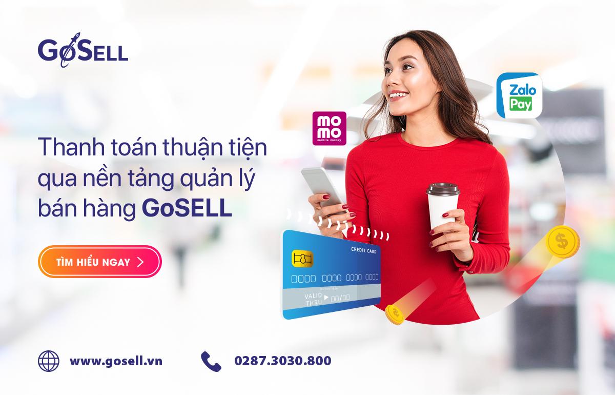 GoSELL tích hợp đa dạng hình thức thanh toán