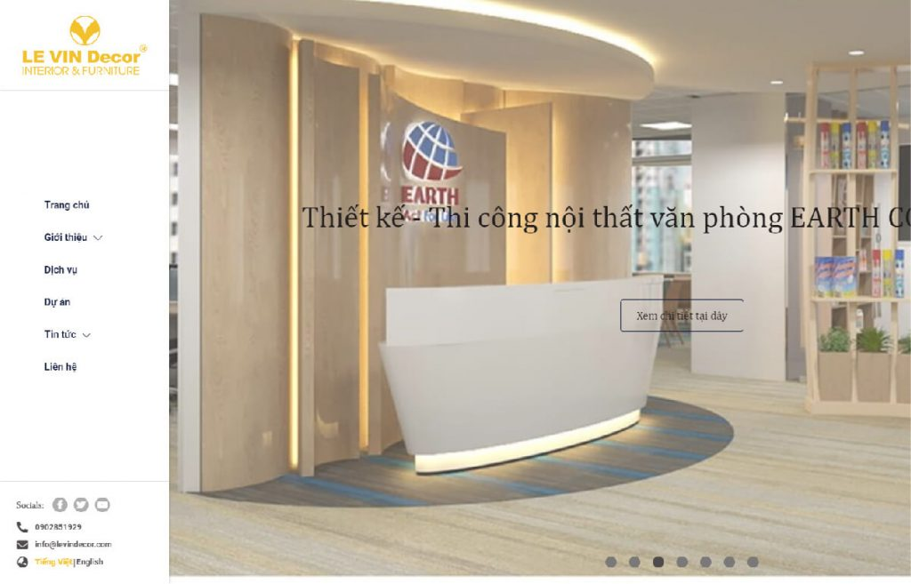 Công ty thiết kế nội thất Lê Vin