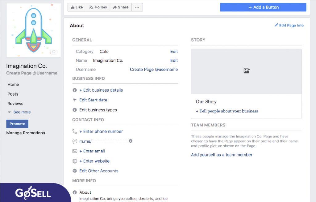 Thiết lập và tối ưu hóa Page Info facebook (Thông tin trang)