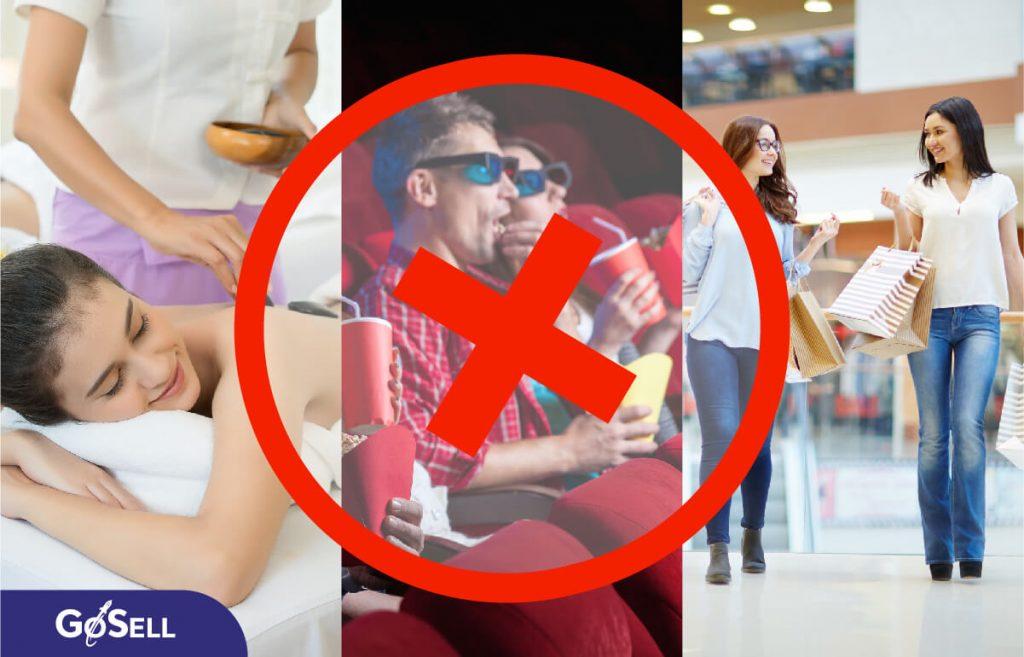 Các ngành bị cấm mở cửa mùa dịch