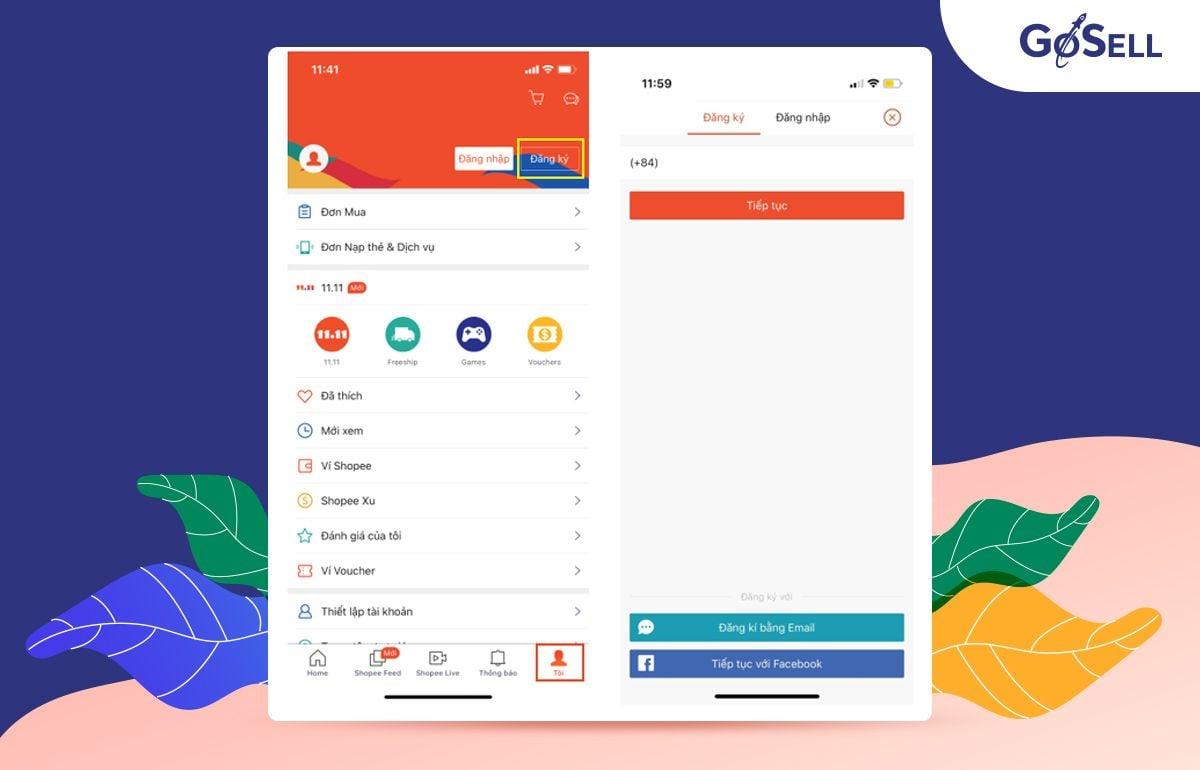 App bán hàng Shopee 1