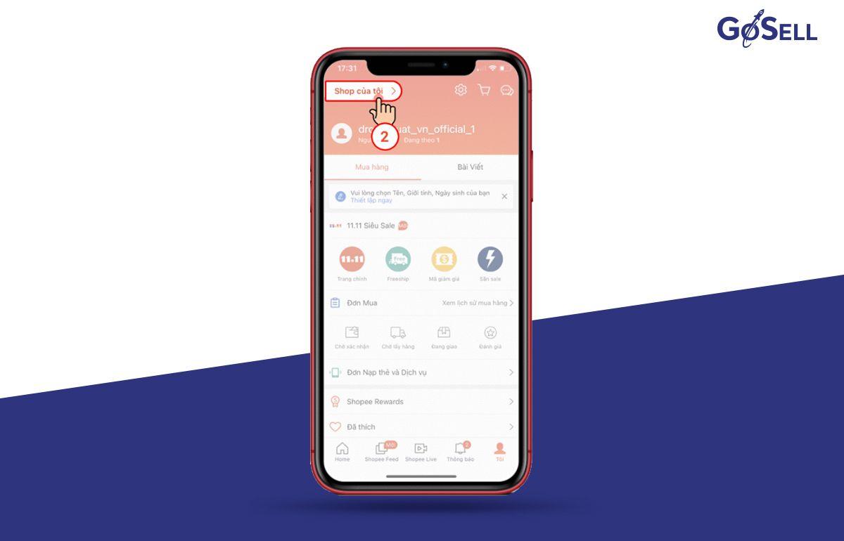 App bán hàng Shopee 7