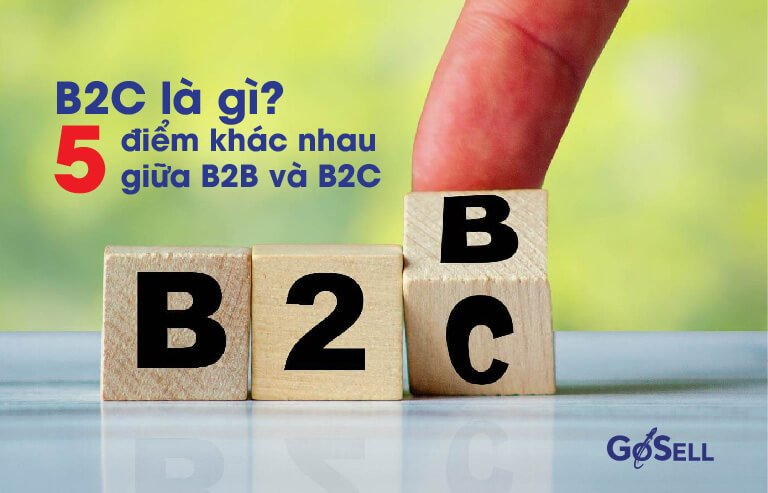 B2C là gì? 5 điểm khác nhau giữa B2B và B2C