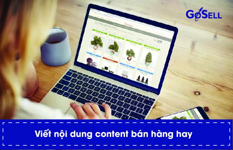 Cách bán hàng online hiệu quả phụ thuộc vào content bán hàng
