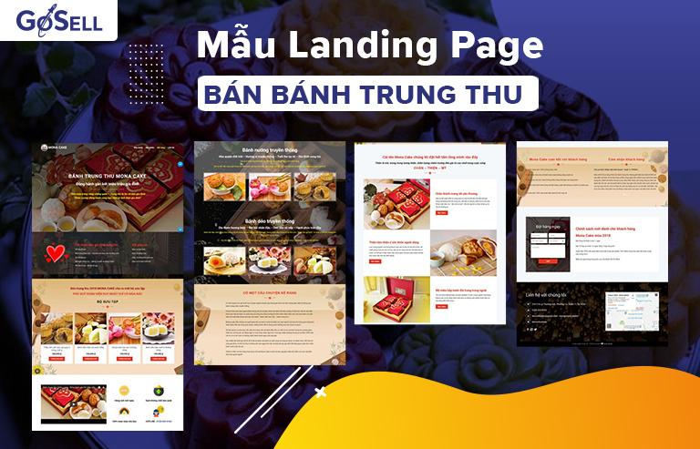 Landing page bán bánh trung thu
