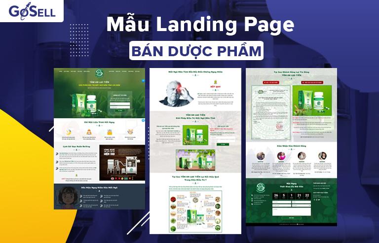 Mẫu landing page bán dược phẩm