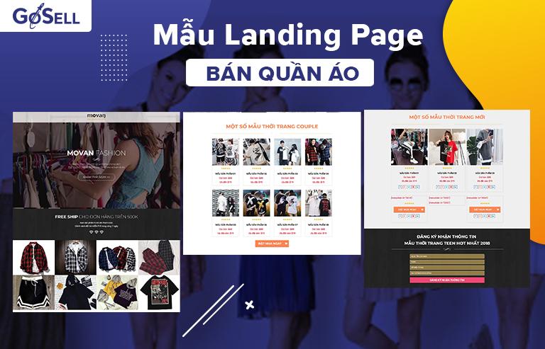 Mẫu landing page bán quần áo