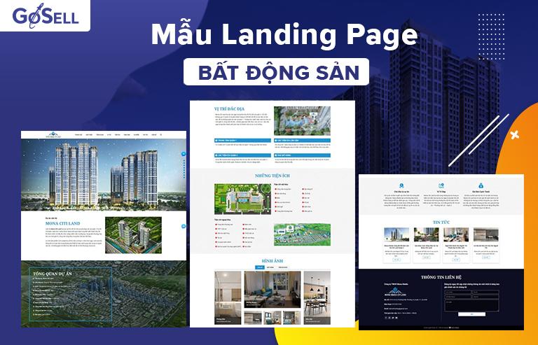 Mẫu landing page bất động sản