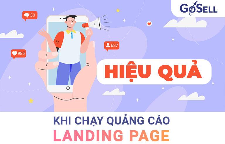 Hiệu quả khi chạy quảng cáo Landing Page