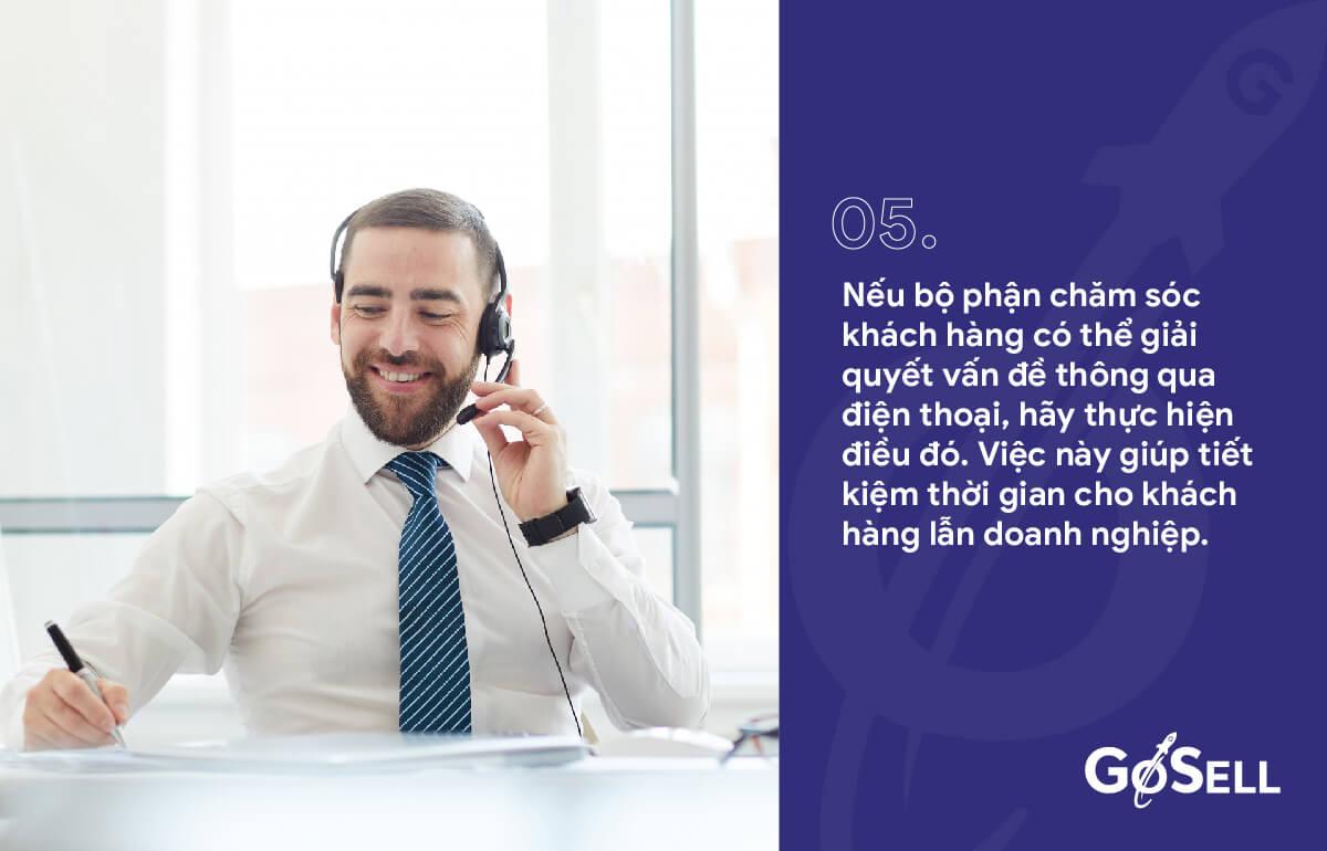 Hỗ trợ xử lý tại chỗ vấn đề cho khách hàng