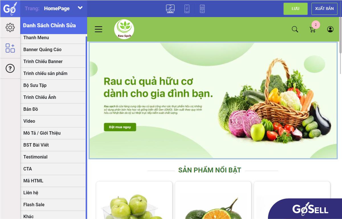 Chọn lựa giao diện và thiết kế website