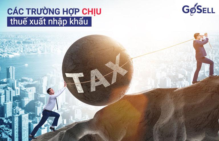Các trường hợp chịu thuế xuất nhập khẩu