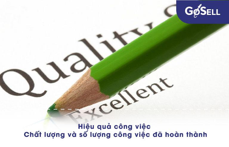 Đảm bảo chất lượng và số lượng công việc đã nhận