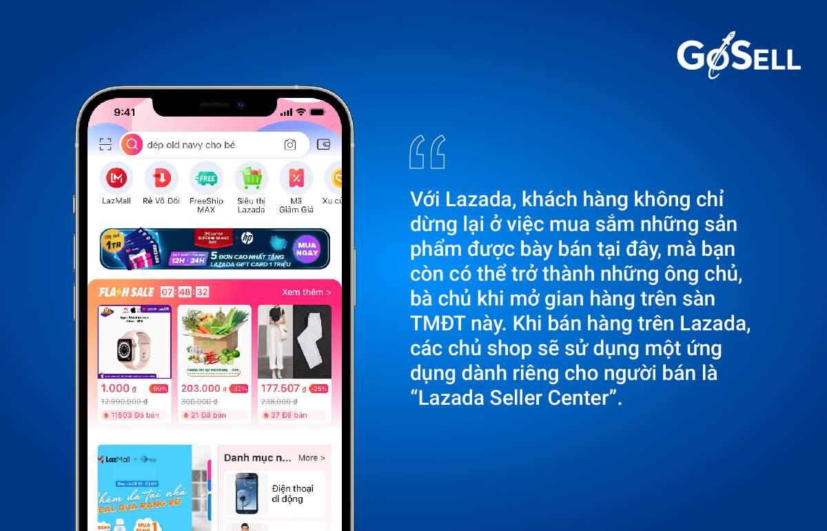 App bán hàng Lazada 1