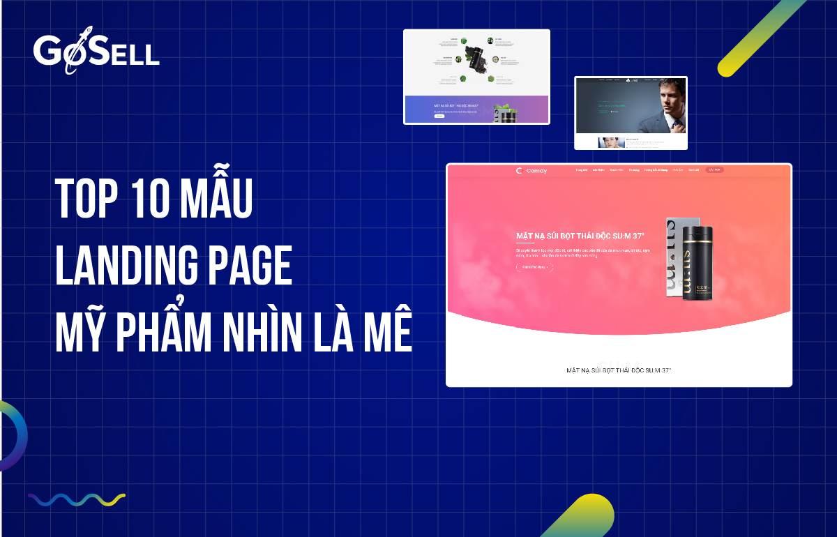 Landing page mỹ phẩm