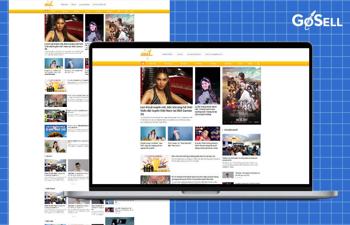 Mẫu template website tin tức số 1