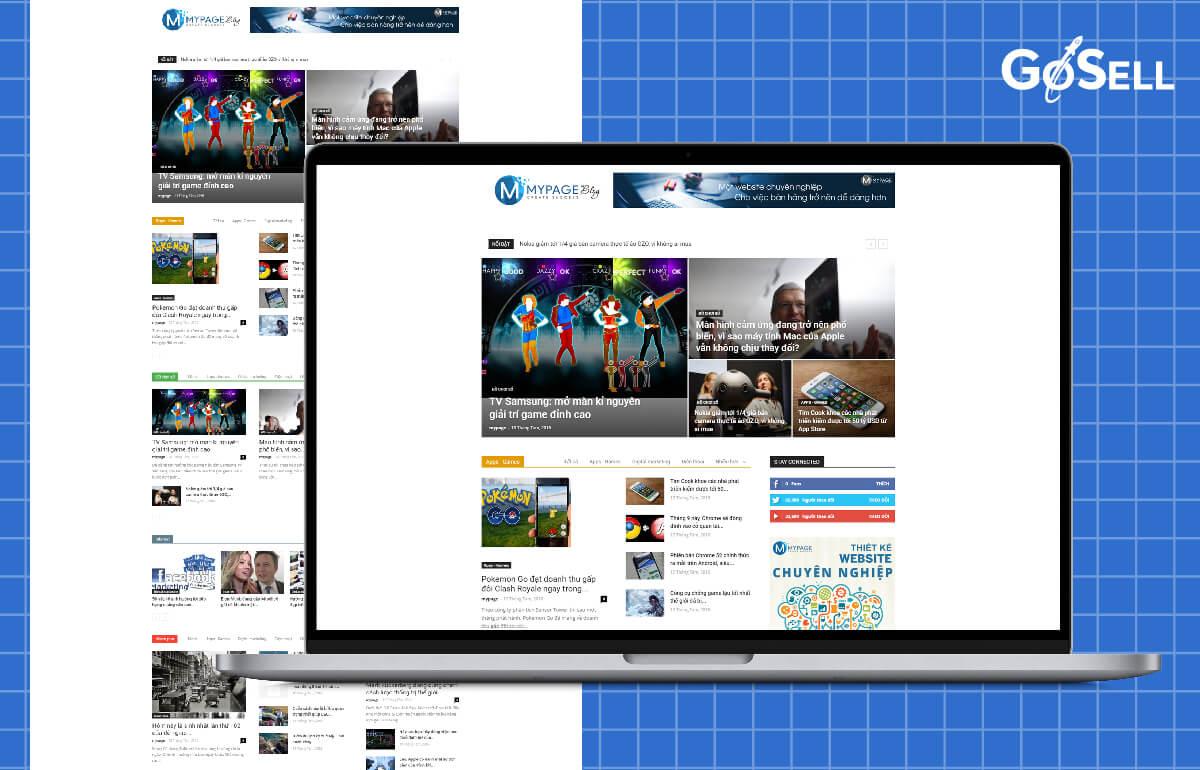Mẫu template website tin tức số 4