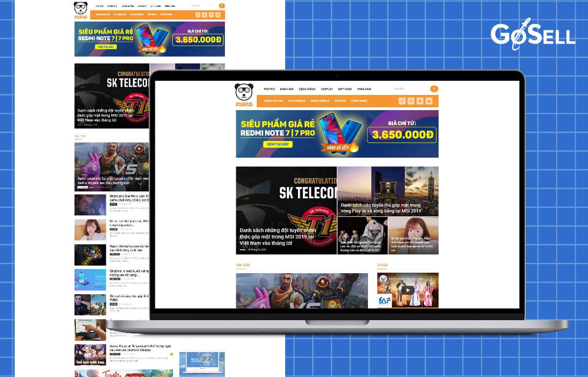 Mẫu template website số 6