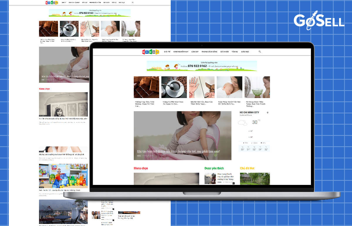 Mẫu template website số 9