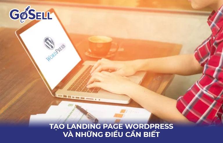 Tạo landing page wordpress 3