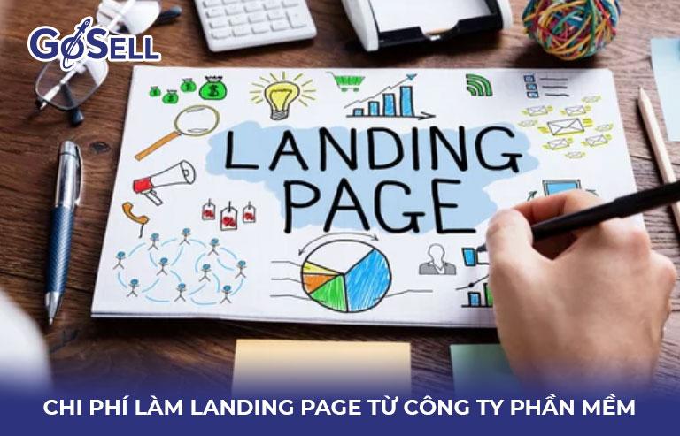 Chi phí làm landing page từ công ty phần mềm