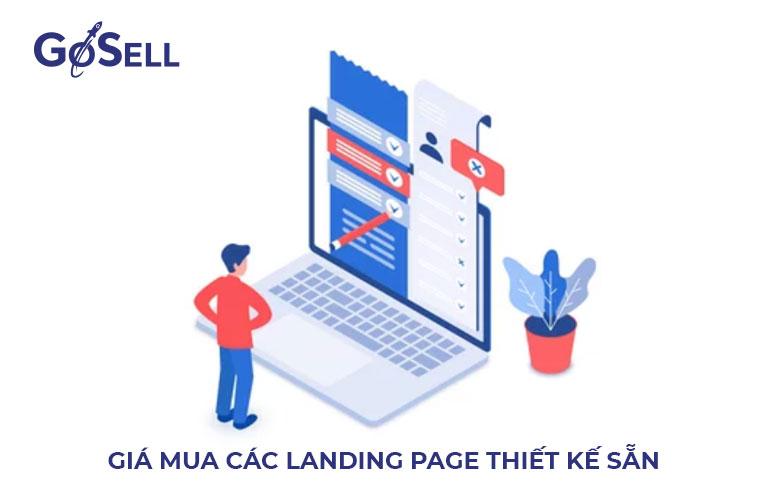 Giá mua các landing page thiết kế sẵn