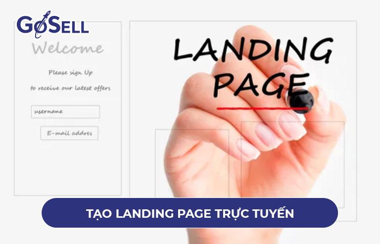 Tạo landing page online