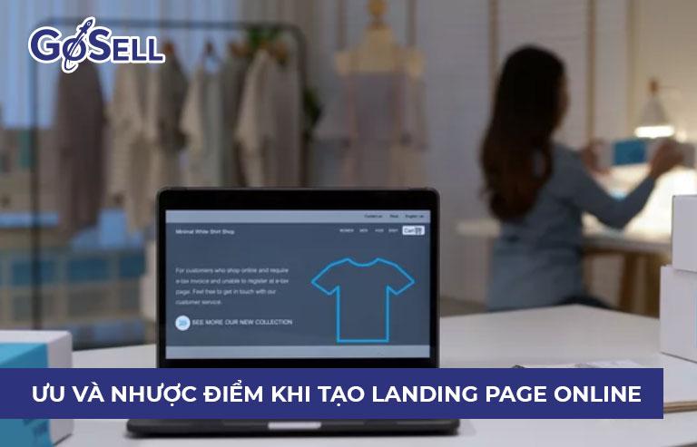 Nhược điểm khi tạo landing page online