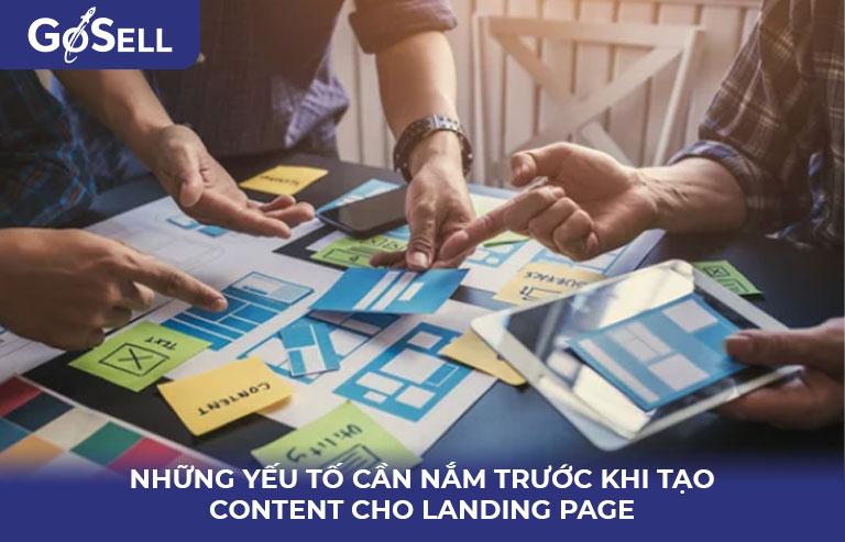 Những yếu tố trước khi viết content cho landing page