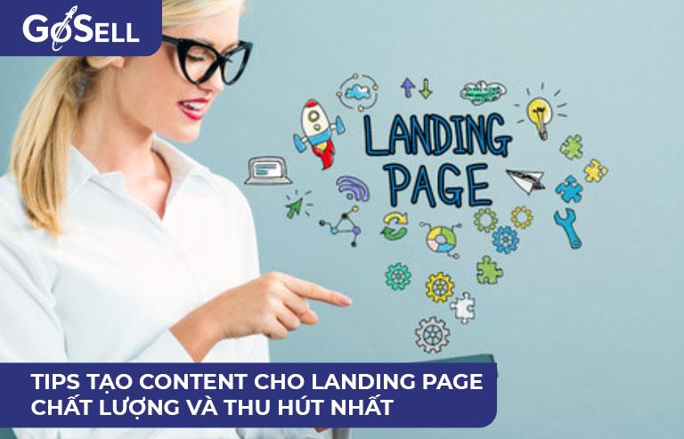 Content cho landing page chất lượng và thu hút nhất