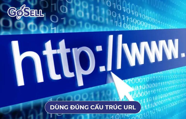 Dùng đúng cấu trúc URL