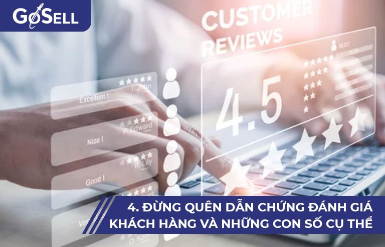 Dẫn chứng đánh giá khách hàng và những con số cụ thể