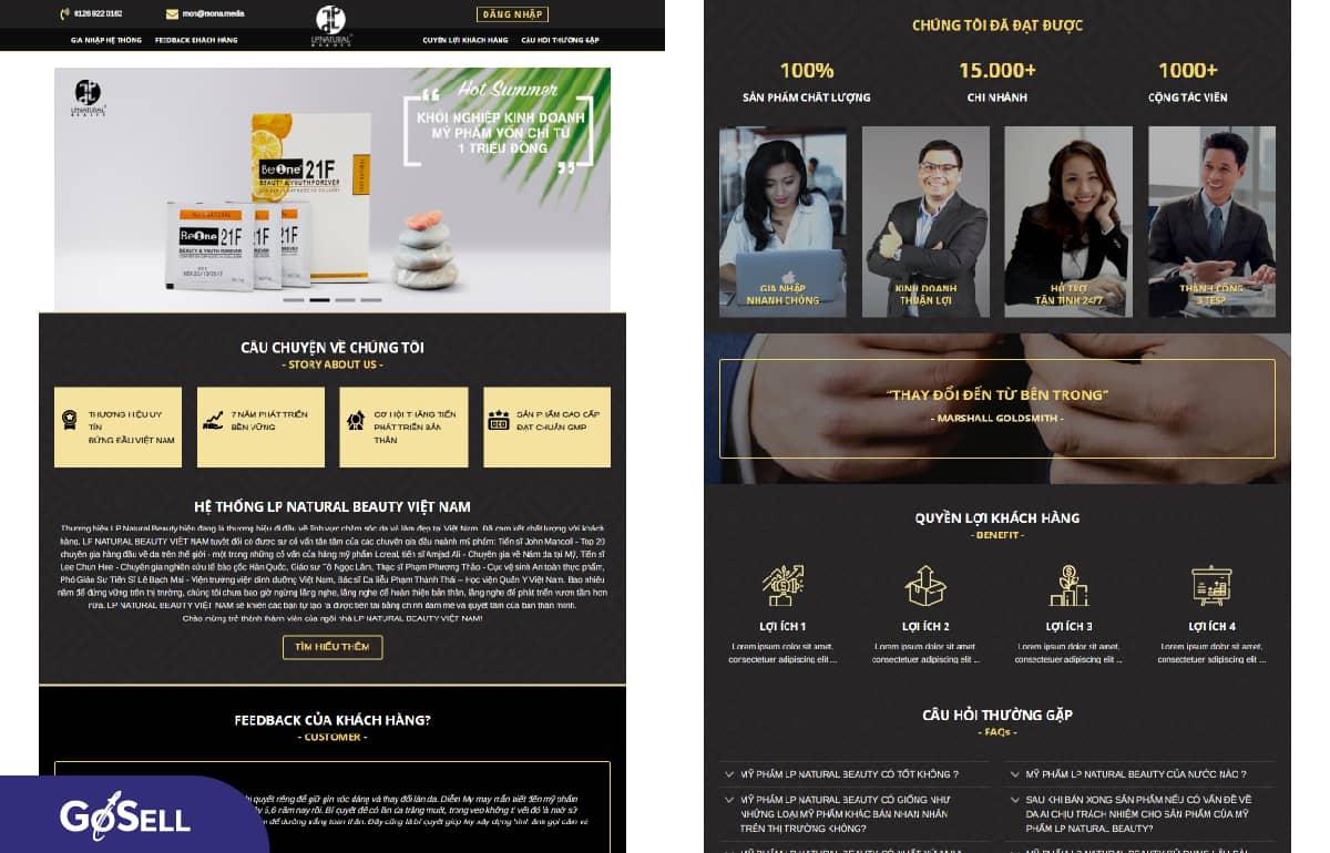 Landing page thực phẩm chức năng 3