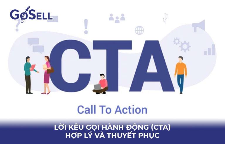 Lời kêu gọi hành động (CTA) hợp lý và thuyết phục