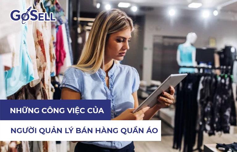 Những công việc của người quản lý bán hàng quần áo