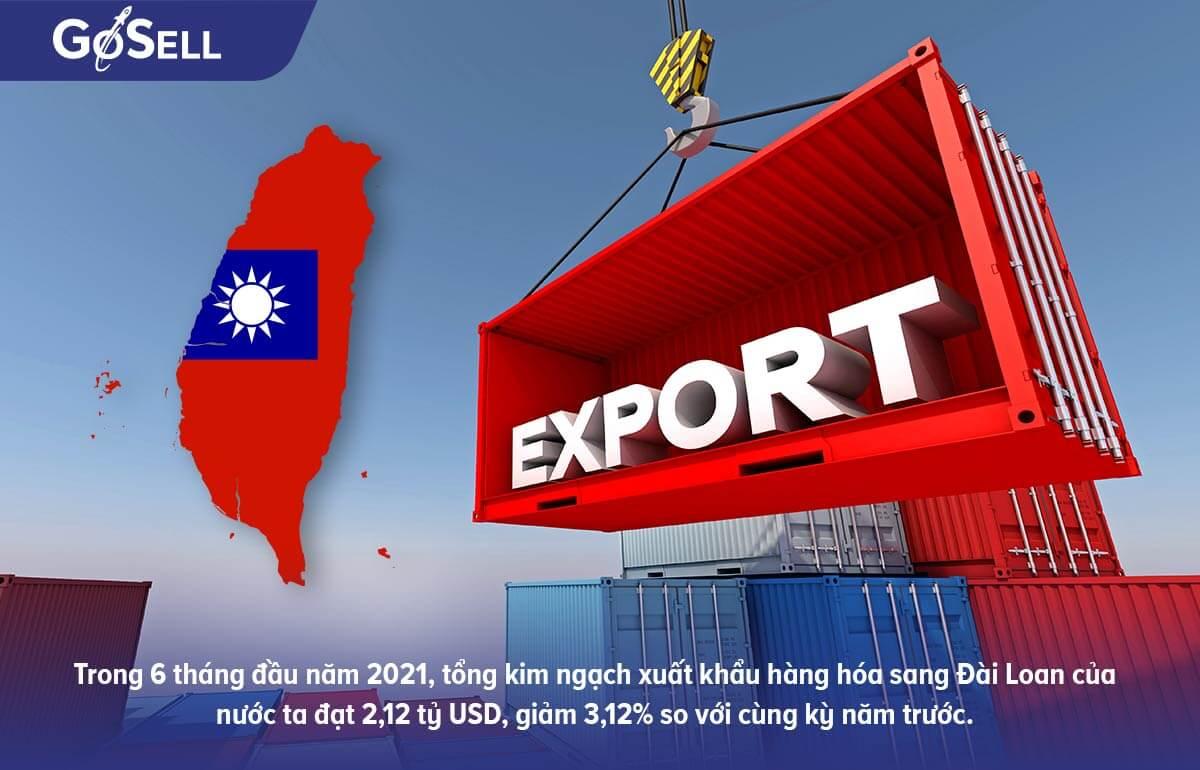 Tổng quát tình hình xuất khẩu hàng hóa sang Đài Loan