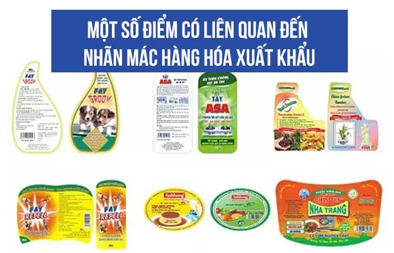 Một số điểm có liên quan đến nhãn mác hàng hóa xuất khẩu